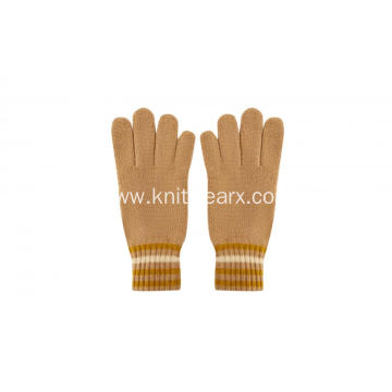 Boy`s Girl's Knitted Full Fingers Winter Warm Gloves