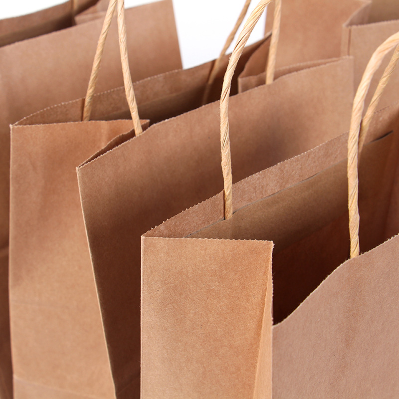 Cheap kraft brown shopping paper bags