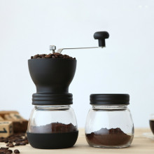 Coffee Grinder Hot Ceramic Millstone Manual for Home Office with 2 Glass Sealed Pots Portable Coffee Mill tool Easy Cleaning