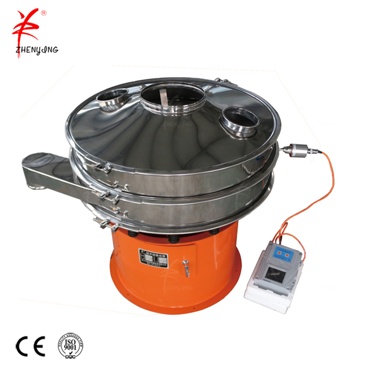 China circular rotary coconut milk powder vibro separator sifter machine