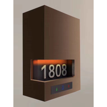 Hotel Electronic Doorplate Touch Doorbell with LED Room Number Display