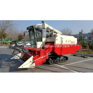 Hot sale mini rice combine harvester with cab