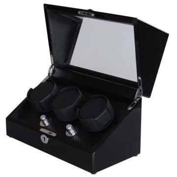 Triple- Rotors Winder Box For Watch Display