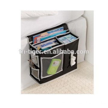 Bedside Storage Caddy Arm Chair Mattress Magazine Remote Phone Tissue Holder Organizer