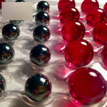 Sapphire and ruby glass ball lens