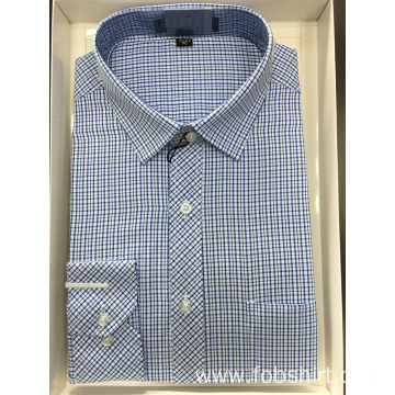 100% Cotton Yarn Dyed Plaid Business Shirt