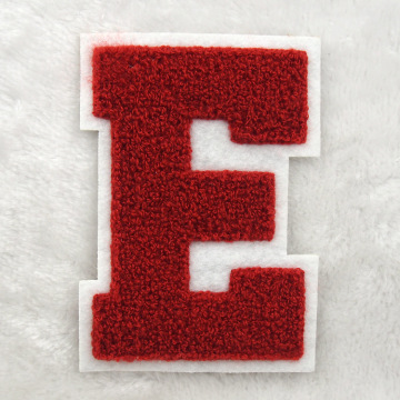 Towel embroidered English letter patch