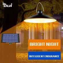 DUI 4 lamp caps warm white garden home lighting courtyard decorative solar LED outdoor chandelier indoor glossiness solar bulbs