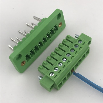 8 pin through wall mounting pluggable terminal block