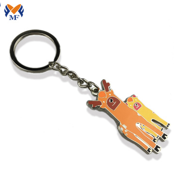 Metal custom shape two sided engraved keychain