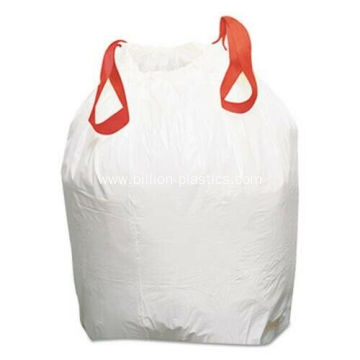 Large Disposable Plastic Drawstring Trash Bag