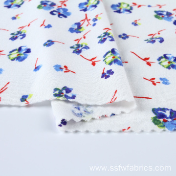 Custom Knitted Jersey Mini Flower Textile Printing Fabric