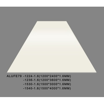 Building Board PVDF Matte Cream Aluminium Sheets