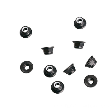 Lock Nut with serrated Flange Aluminum Fasteners