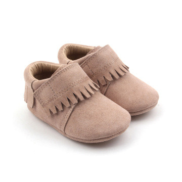 Soft Leather Baby Girl Moccasins Tassel Shoes