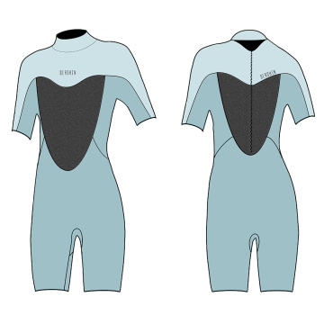 Seaskin Womens Back Zip Shorty Wetsuits