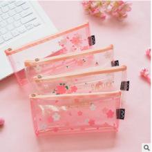 Pink Petal Cherry Sakura Pencil Bag Case Stationery Storage Organizer Bag School Office Supply