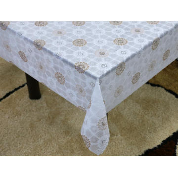 ivory Printed pvc lace tablecloth by roll