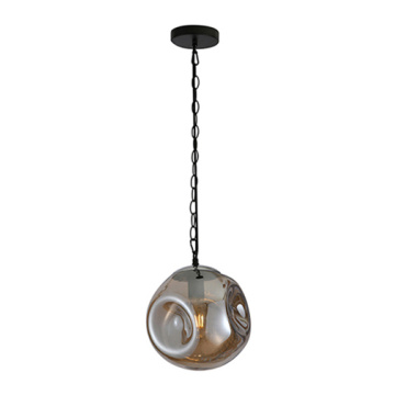Modern coffee shop ceiling smoky glass pendant lamp