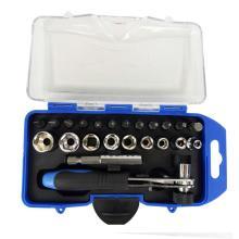 23pcs Repair Tool Kit Socket Screwdriver Kit Household Screwdriver Set Ratchet Wrench Socket Spanner Drill Repair Tool