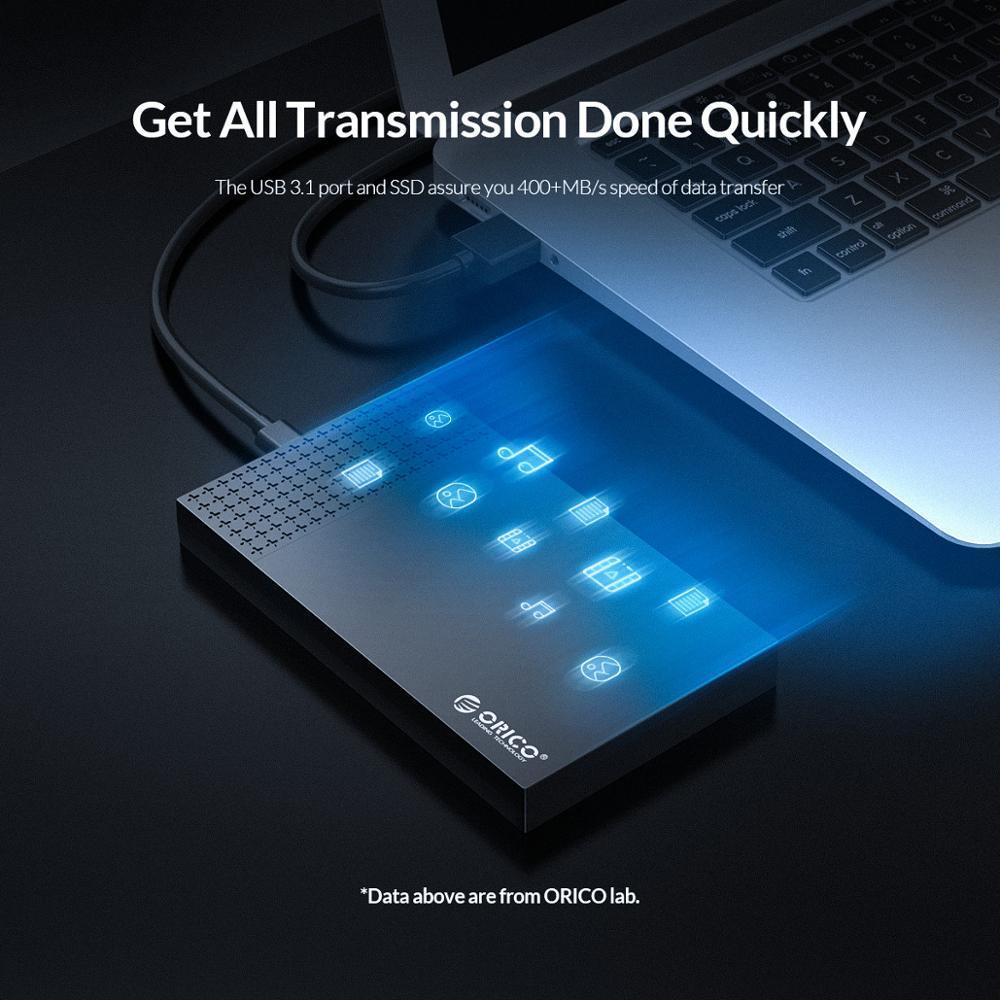 "ORICO SSD Case Type-C USB3.1 to SATA3.0 2.5"" USB 3.1 Gen1 SSD HDD Enclosure 5Gbps 4TB HDD Enclosure Box Support UASP Auto Sleep"