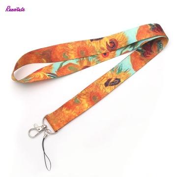 R0016 Ransitute Van Gogh Mobile Phone Straps Neck Lanyards For Keys ID Card Mobile Phone USB Holder Hang Rope Webbing