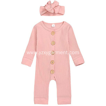 Pink children's one-piece knit sweater