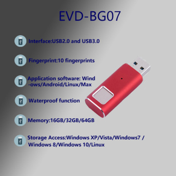 Fingerprint Encryption USB 3.0 Flash Drive 32g U Disk