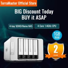 TerraMaster F4-210 4-bay NAS Quad Core 1GB RAM Network RAID Storage Media Server Personal Cloud Storage (Diskless)