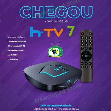 2021 htv box 7 brasil original htv7 brasil H7 tv box HTV6 htv box 7 brasil Tigre2 BOX H.TV 7 Brazilian Portuguese box