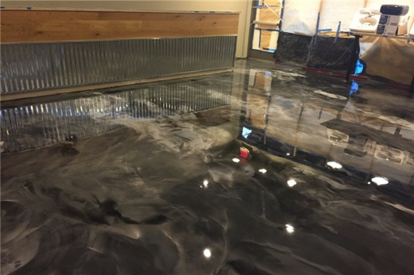 metal epoxy floor