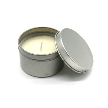 Handmade customized scented soy wax tin candle