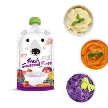 8pcs/pack 200ML Kids Breast Milk Storage Bags Cartoon Reusable Newborn Baby Food Pouch Infant Double Zipper Feeding Bags