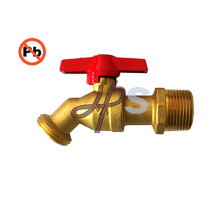 low lead brass hose bibb