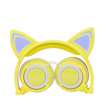 Macoron LED cartoon headphones cat ear headphone