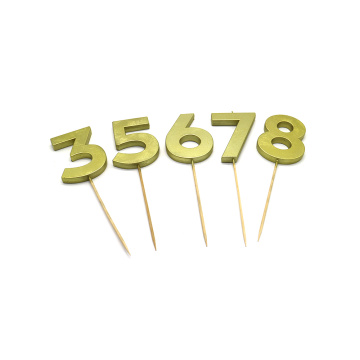 Birthday Use Gold And Sliver Number Candles