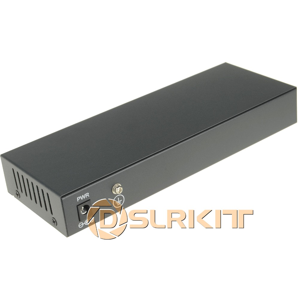 DSLRKIT 9 Ports 8 PoE Injector Power Over Ethernet Switch 4,5+/7,8- IP Cameras without Power Adapter
