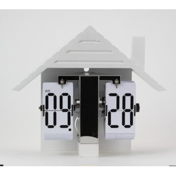 Holland Style House Flip Table Clock
