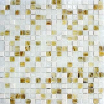 White glass stone mixed series elegant tiles