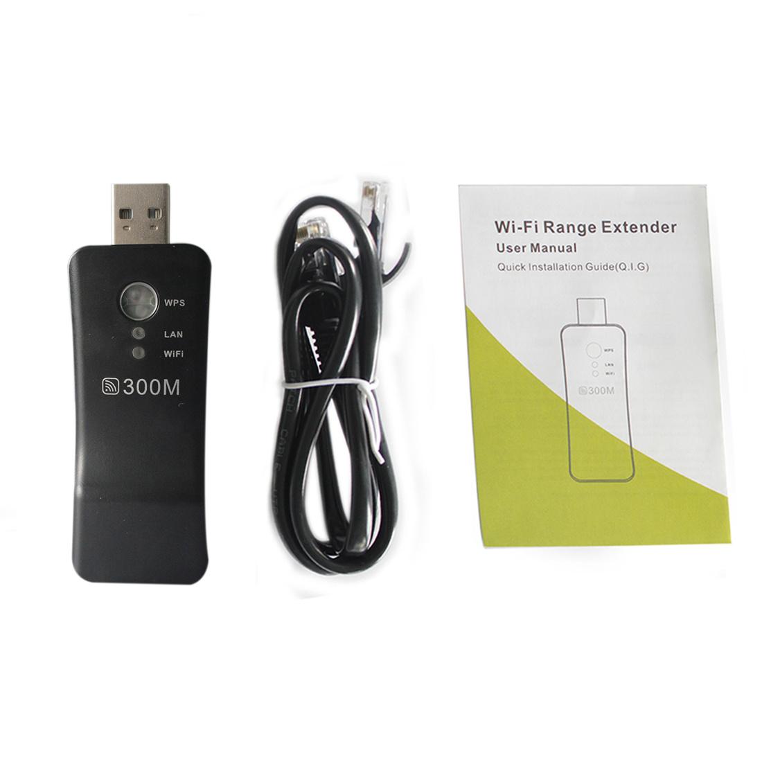 NOYOKERE 300Mpbs Portable Wireless WiFi Smart TV Network Adapter Universal HDTV RJ45 Repeater AP USB WPS