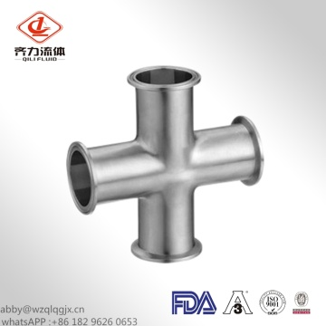 Food Grade Sanitary Stainless Steel Clamped Cross