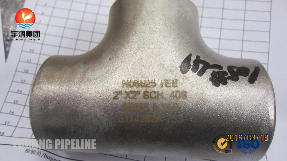 Butt Weld Fitting, ASTM B366 Inconel 625 Tee, ANSI B16.9 , Penetrant Inspection