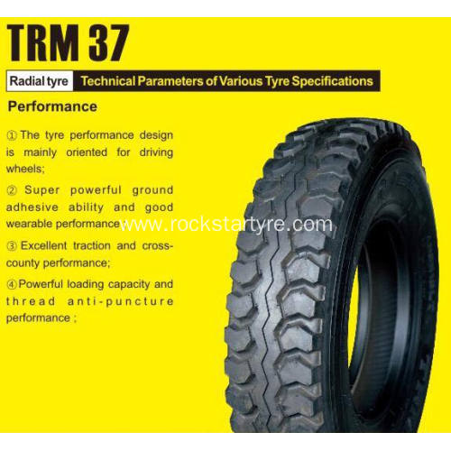 Rockstar Truck Tyre 11R22.5 Steel and Trailer Tyre