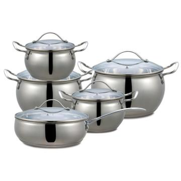 10 PCS Cookware Sets & Stainless Steel Kitchenware