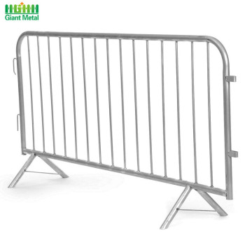Galvanized Temporary Road Safety Crowd Traffic Barrier Fence