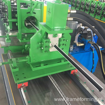 Steel wall angle roll forming device