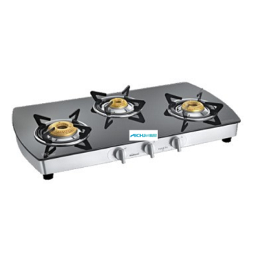 Extra Spacious Toughened Glass Cooktop 3 Burner