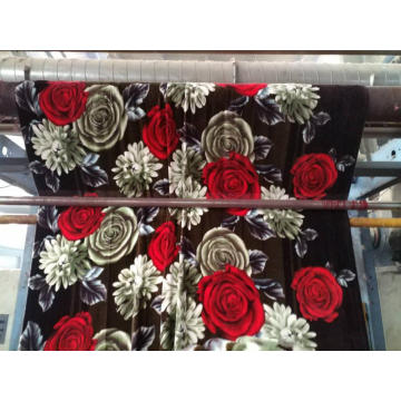 soft red black big flower designs flannel blanket