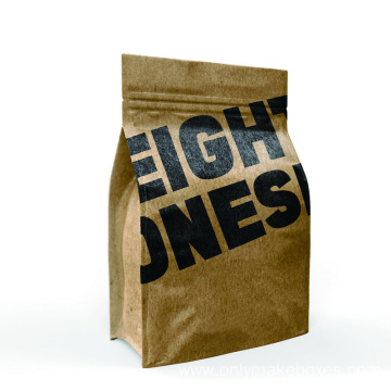 Halfside Kraft Paper Bag Mock-up