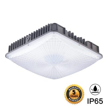 75W Parking Garage Led Canopy Lighting Fixtures